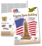 "3D dėlionė ""Empire State Building (New York)"" 55 vnt, FOLIA"